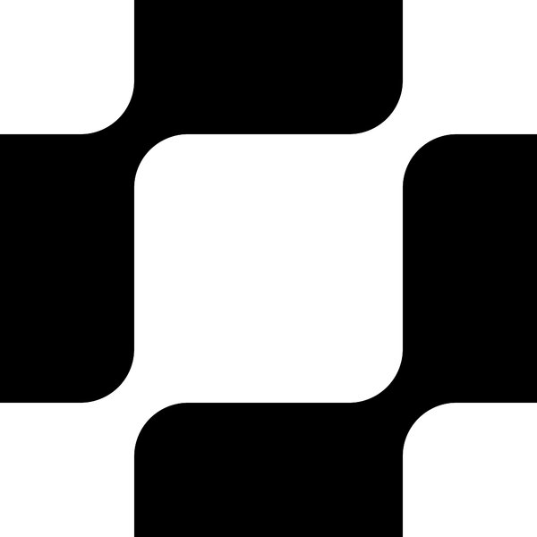 Retro Pattern 4: A tileable retro pattern of black and white rounded checks in a 1970's style.