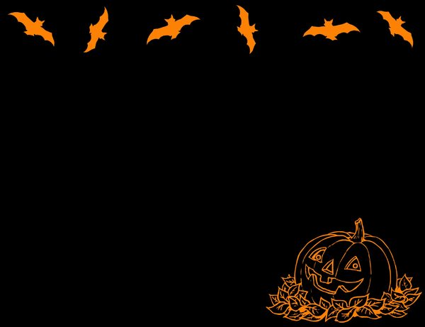 Halloween Pumpkin and Bats: An orange Halloween pumpkin on a black background. You may prefer:  http://www.rgbstock.com/photo/nbtzZTi/Halloween+Eyeballs  or:  http://www.rgbstock.com/photo/nvzrY8o/Ghostly+Light+1