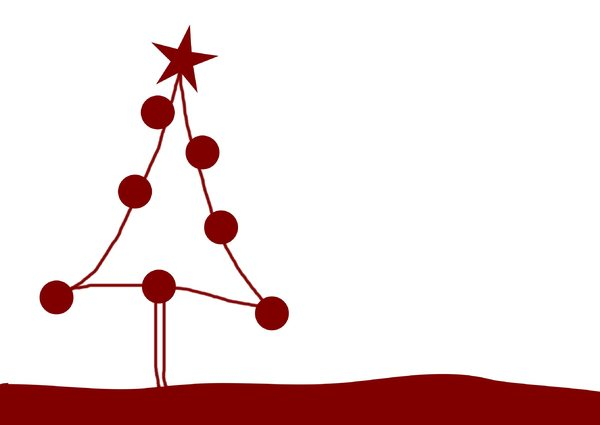 Cartoon Christmas Tree: A cute little cartoon tree, decorated and ready for your greetings, gift cards or placenames. You may prefer:  http://www.rgbstock.com/photo/2dyVQYr/Abstract+Christmas+Tree  or:  http://www.rgbstock.com/photo/njoVt2k/Christmas+Tree+With+Candles