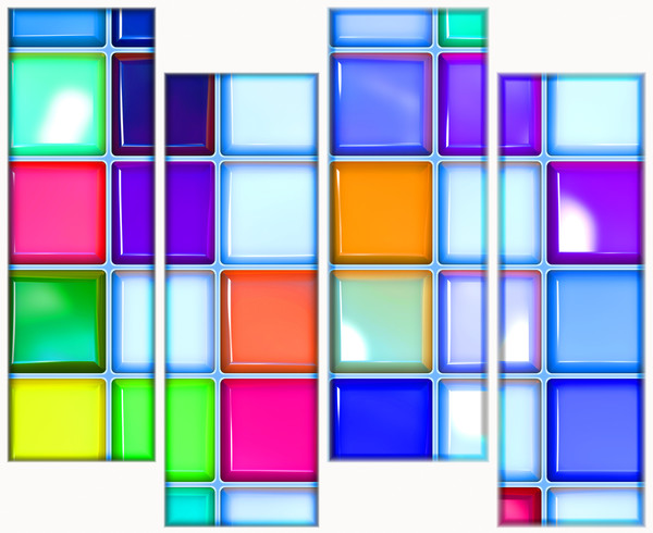 Glossy Tiles 13: Multicoloured glossy tiles with a collage effect. You may prefer:  http://www.rgbstock.com/photo/nXt5ED8/Glass+Blocks  or:  http://www.rgbstock.com/photo/nbG1Scg/3D+Glass+Squares