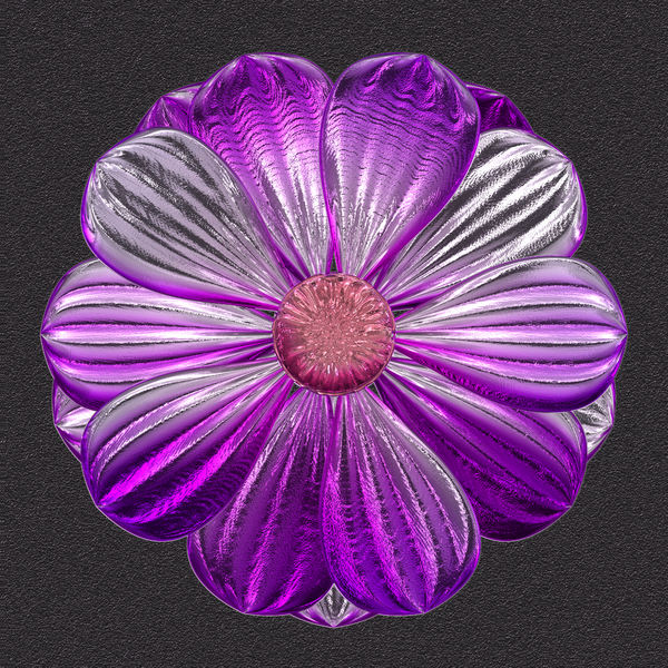 Metallic Flower 1: A very high resolution metallic flower on a dark background. You may prefer:  http://www.rgbstock.com/photo/2dyXlMV/Stained+Glass+Flowers  or:  http://www.rgbstock.com/photo/nZ6Yl2c/Ornate+Floral+Border