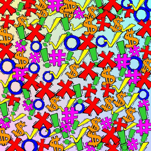 Cartoon Symbols: Colourful cartoon symbols make a great texture, fill or background. You may prefer:  http://www.rgbstock.com/photo/n10RRHy/Question+Mark+3  or:  http://www.rgbstock.com/photo/oK4WH10/Yes