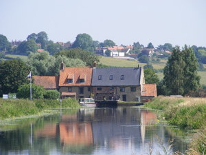 Hardwater Mill, River Nene: Old Watermill (now residential) at Great Doddington, Northamptonshire,UK