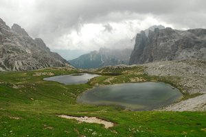 Tarns in Italian Alp: tarns in a beautiful Italian Alps, called Dolomite
