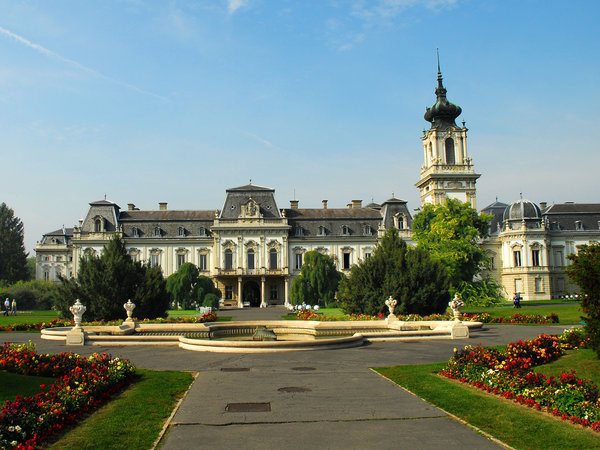 Castle of Keszthely: different viewpoints of Castle of Keszthely in Hungary