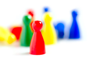 Pawns: colorful pawns