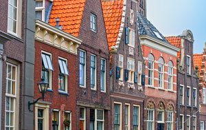 Old Dutch houses: street view