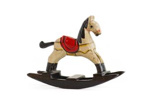 Little rocking horse: Christmas ornament