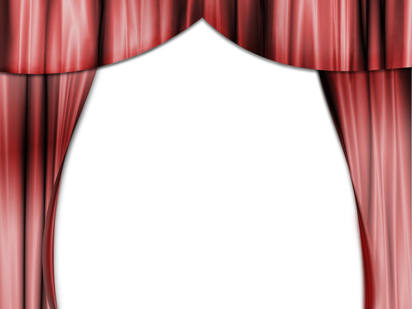 Curtain: red curtain illustration