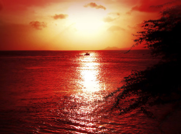 Bonaire sunset: Tropical sunset