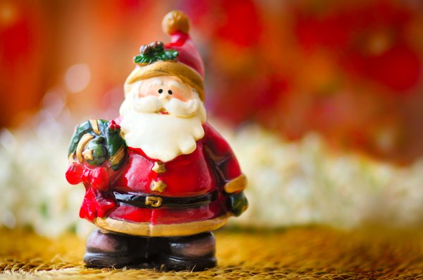 Cute Santa: Small Santa ornament for Christmas