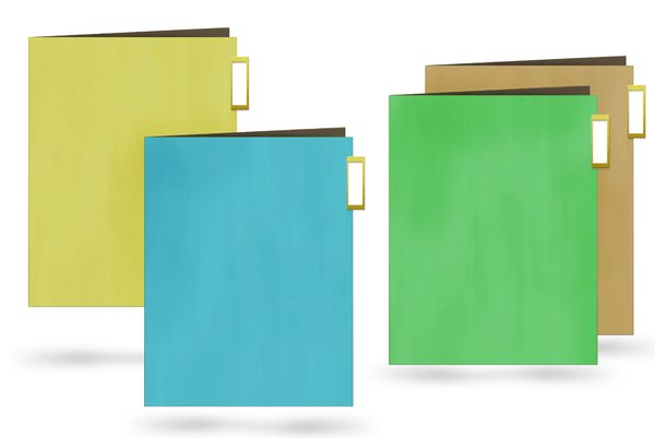 Folders: Colored folders - office equipment