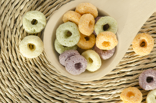 Fruity loops: Fruit loops close-up for breakfast